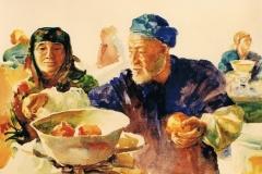 Pomegranate Seller, Uzbekistan
